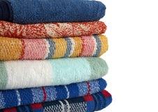 Gekleurde handdoeken Stock Fotografie