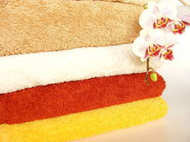 Gekleurde handdoeken Royalty-vrije Stock Foto's