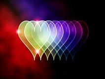Gekleurde harten Stock Illustratie