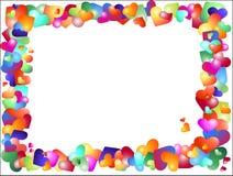 Gekleurde harten royalty-vrije illustratie