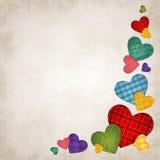 Gekleurde harten Royalty-vrije Stock Afbeeldingen