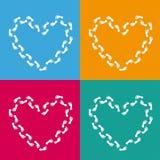 4 gekleurde Harten Als achtergrond vector illustratie