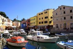 Gekleurde haven Royalty-vrije Stock Afbeeldingen
