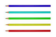 Gekleurde Heldere Potloden Royalty-vrije Stock Afbeeldingen