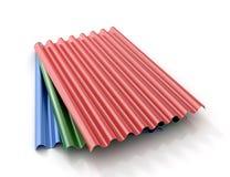 Gekleurde het staal goffered platen Stock Afbeeldingen