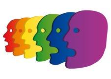 Gekleurde hoofden Stock Afbeelding