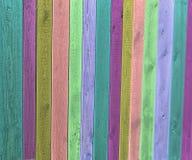 Gekleurde houten omheining Stock Afbeelding
