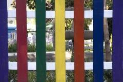 Gekleurde houten omheining Royalty-vrije Stock Foto