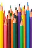 Gekleurde houten-vrije potloden Royalty-vrije Stock Afbeelding