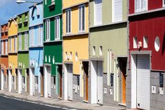 Gekleurde huizen Stock Foto