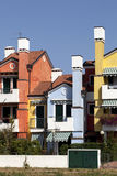 Gekleurde huizen Stock Afbeelding