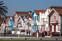 Gekleurde huizen Stock Afbeeldingen