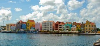 Gekleurde huizen curacao royalty-vrije stock afbeelding