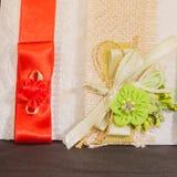 Gekleurde Huwelijksuitnodiging stock afbeelding