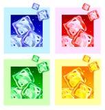 Gekleurde ijsblokjes Royalty-vrije Stock Fotografie