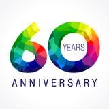 60 gekleurde jaar Stock Afbeelding