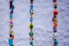 Gekleurde juwelenparels royalty-vrije stock afbeeldingen
