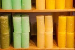 Gekleurde kaarsen Royalty-vrije Stock Foto's