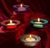 Gekleurde kaarsen Royalty-vrije Stock Fotografie