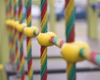 Gekleurde kabels in de speelplaats royalty-vrije stock afbeelding