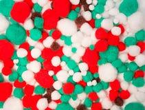 Gekleurde katoenen ballen Stock Foto's