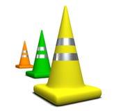 Gekleurde Kegels Royalty-vrije Stock Afbeeldingen