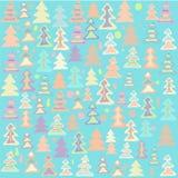 Gekleurde Kerstbomen Stock Afbeeldingen