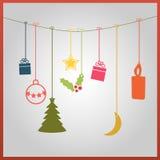 Gekleurde Kerstmiskaart Royalty-vrije Stock Afbeelding