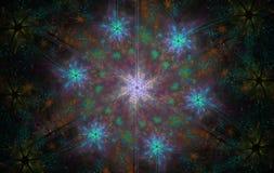 Gekleurde Kerstmissneeuwvlok Stock Afbeelding