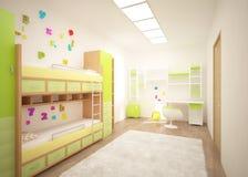 Gekleurde kinderenruimte Royalty-vrije Stock Afbeelding