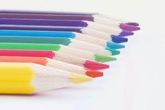 Gekleurde kleurpotloden Royalty-vrije Stock Foto's
