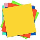 Gekleurde kleverige nota's Royalty-vrije Stock Afbeelding