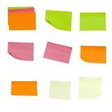 Gekleurde kleverige nota's stock foto's