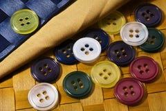 Gekleurde knopen. Stock Afbeeldingen