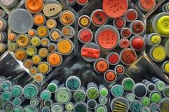 Gekleurde knopen Stock Afbeeldingen