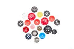 Gekleurde knopen op isolate Royalty-vrije Stock Foto's