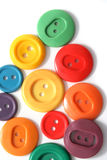 Gekleurde knopen op wit Stock Fotografie