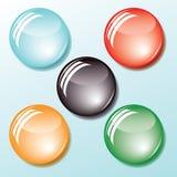 Gekleurde knopen. Vector. Royalty-vrije Stock Foto