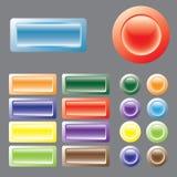 Gekleurde knopen. Vector. Stock Foto's
