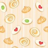 Gekleurde koekjes stock illustratie