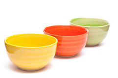 Gekleurde kommen Stock Foto's