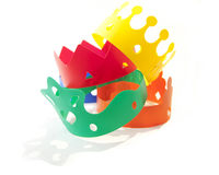 Gekleurde kronen Royalty-vrije Stock Foto's