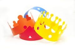 Gekleurde kronen Royalty-vrije Stock Afbeelding