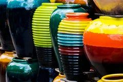 Gekleurde kruiken. royalty-vrije stock foto's