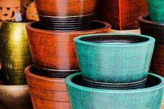 Gekleurde kruiken. royalty-vrije stock fotografie