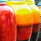 Gekleurde kruiken stock foto