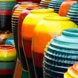 Gekleurde kruiken royalty-vrije stock afbeelding