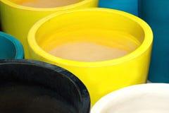 Gekleurde kruiken stock afbeelding
