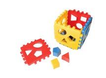 Gekleurde kubus Stock Foto's
