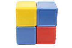 Gekleurde kubussen Stock Afbeeldingen